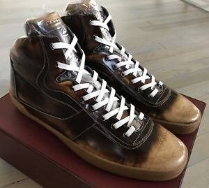 Bally Eroy 582 Brown Brushed High Tops