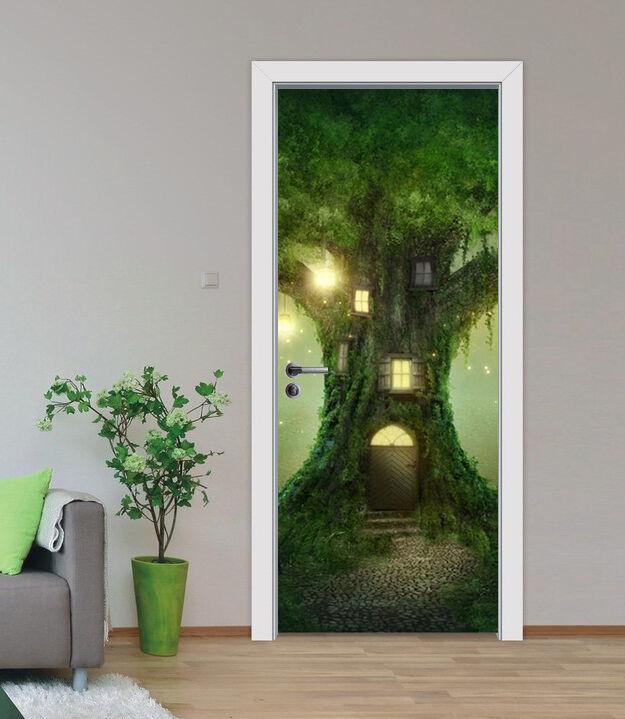 3D Baumhaus 87 Tür Wandmalerei Wandaufkleber Aufkleber AJ WALLPAPER DE Kyra   Haltbarer Service    Geeignet für Farbe    Exquisite Handwerkskunst