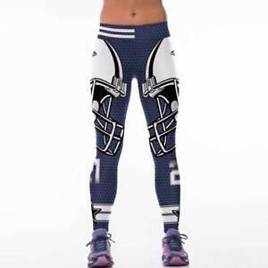 on sale fce16 26861 Details about Dallas Cowboys Leggings Football Athletic NFL Yoga Stretchy  XXL