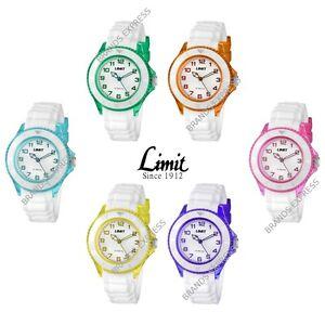 Limit-Glacier-Unisex-Watch-White-Silicone-Strap-50m-WR