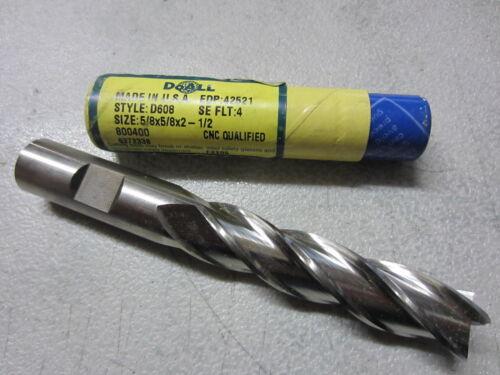 "new DOALL GREENFIELD 5//8/"" 4-Flutes Extra Long Length HSS End Mill endmill USA"