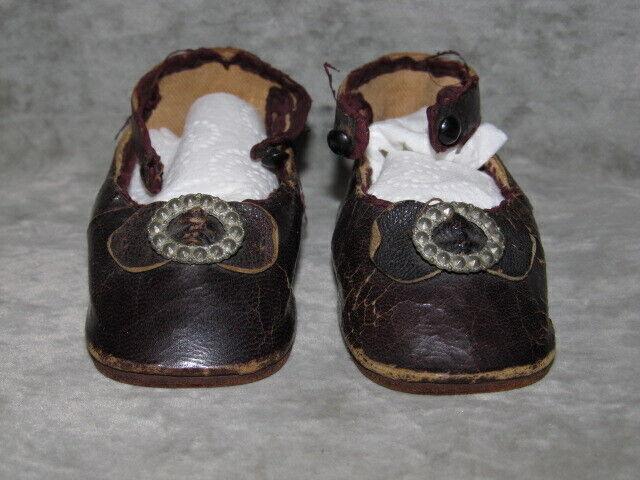 French BEBE BRU Leather schuhe,  B  Mark, Größe 8For Bru Jne, Brevete, Circle Dot