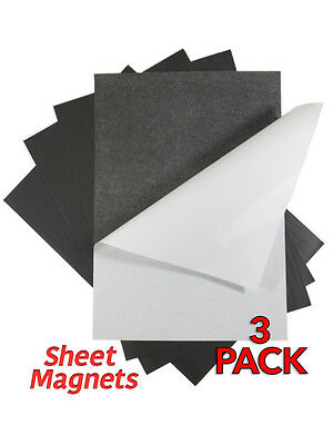 A4 0.4mm Self Adhesive Sheet Magnets   3 pack   Ref.59175
