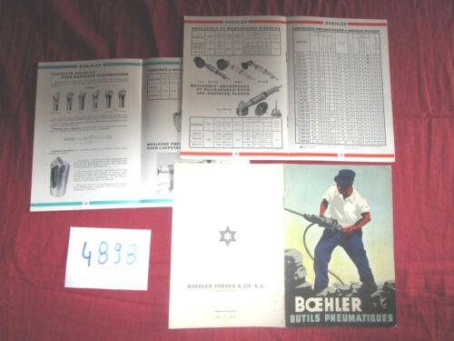 N°4898 / catalogue BOEHLER ,outils pneumatiques  texte français 1952
