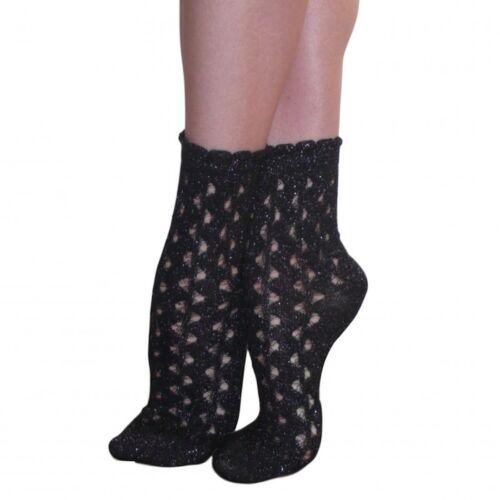 Jonathan Aston Women/'s Dazzle Lurex Socks JGUX Cotton One Size Black 1 Pair