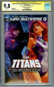 CGC 9.8 Tales from the Dark Multiverse: The Judas Contract #1 Signed by Artgerm