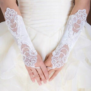 Hot-sale-White-Ivory-Bride-Wedding-Party-Fingerless-Pearl-Lace-Gloves20171