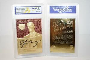 PEYTON-MANNING-1998-Draft-Pick-FEEL-THE-GAME-Gold-Card-Graded-GEM-MINT-10
