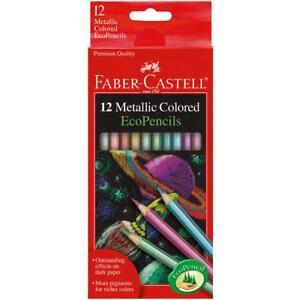 Metallic-Colored-EcoPencils-SCHOOL-SUPPLIES-Faber-Castell-12-Pencil-Colors