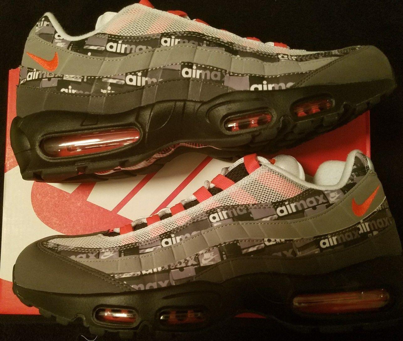 Envío ahora Atmos Nike Air Air Air Max 95 Prnt We Love 8-13 nero Carmesí AQ0925-002 91c6a1