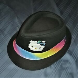9d17a0bf8c8bc Details about NEW 2012 Girl s Youth Size HELLO KITTY Fedora Hat w   Iridescent Rainbow Band