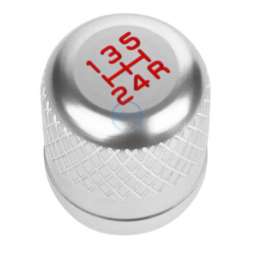 M8//M10//M12 Heavy Weight MT//Manual Transmission 5-Speed Gear Shift Knob Silver
