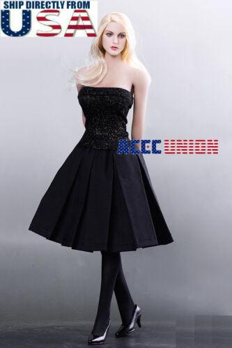 "1//6 Audrey Hepburn Black Dress Shoes Set For 12/"" PHICEN Hot Toys Figure U.S.A."