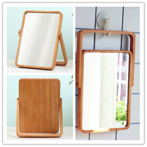 27 1cm H Wooden One Sided Rectangular Mirror Ok To Hang Up