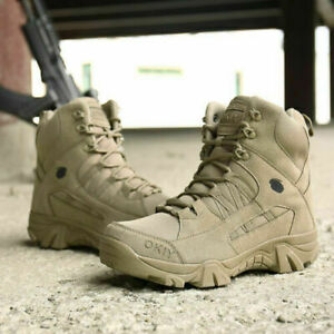 Mens Military Tactical Combat Hiking Boots Outdoor Desert Shoes Training Shoes K