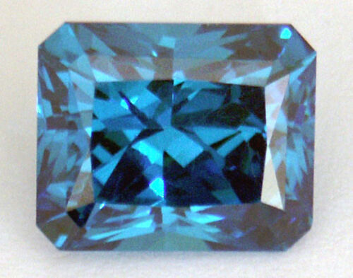 Stunning 11.5x9.5 mm 9.5 cts Octagon Scissor cut Ocean Blue Russian CZ AAAAA