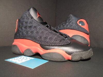 low priced 6ded3 d1ae0 2005 Nike Air Jordan XIII 13 Retro GS BRED BLACK TRUE RED BG 309260-061 4Y  4 | eBay