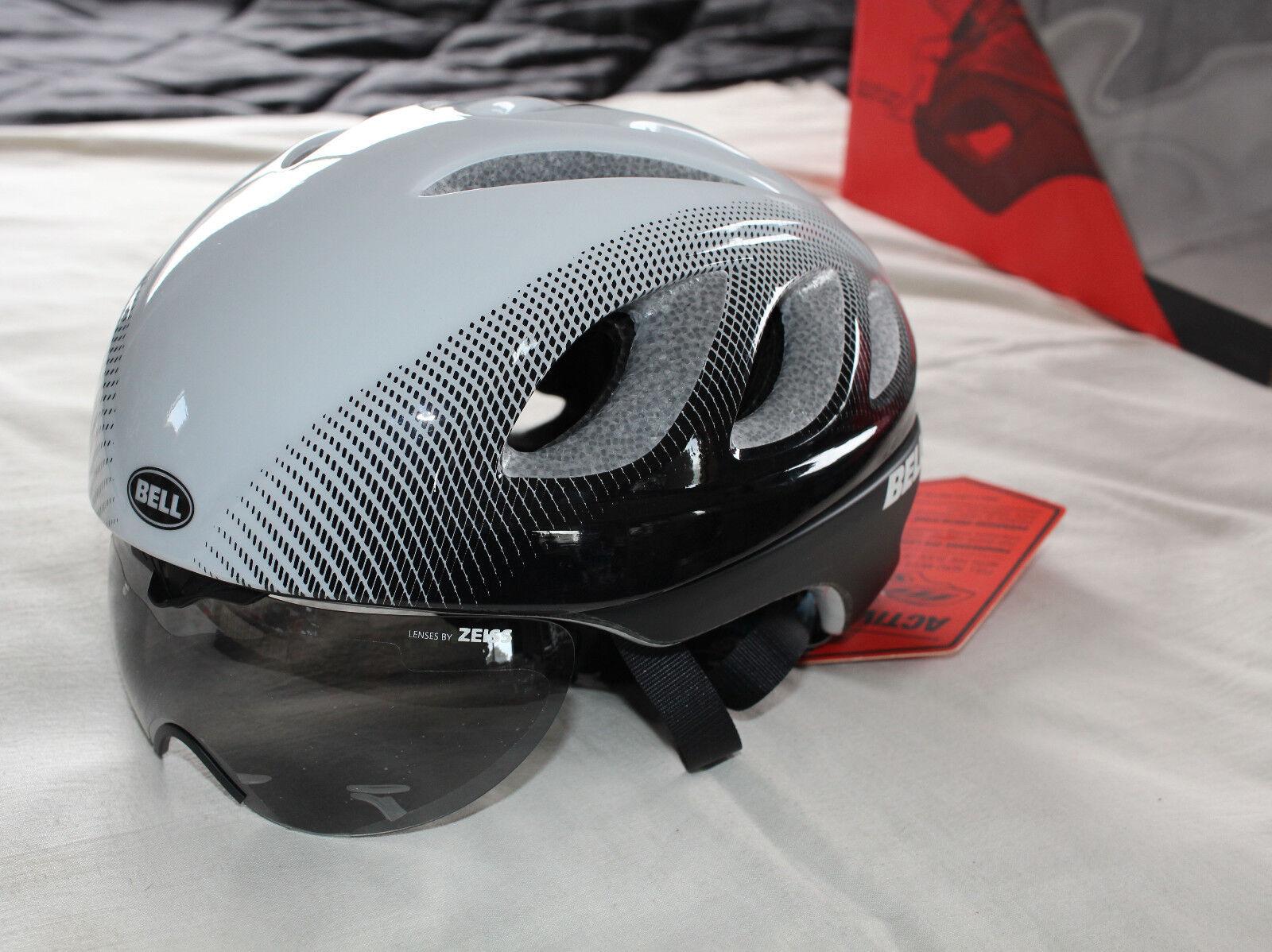 Bell Estrella Pro Escudo blancoo Negro Adulto Tamaño M 55-59cm Active Aero Casco de Bicicleta