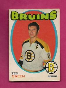 1971-72-OPC-173-BRUINS-TED-GREEN-VG-CARD-INV-A3288