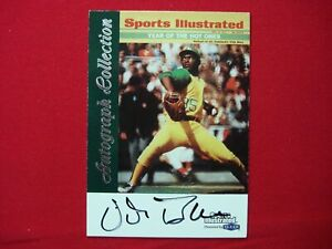 1999 FLEER - SPORTS ILLUSTRATED - AUTOGRAPH COLLECTION VIDA BLUE OAKLAND A's