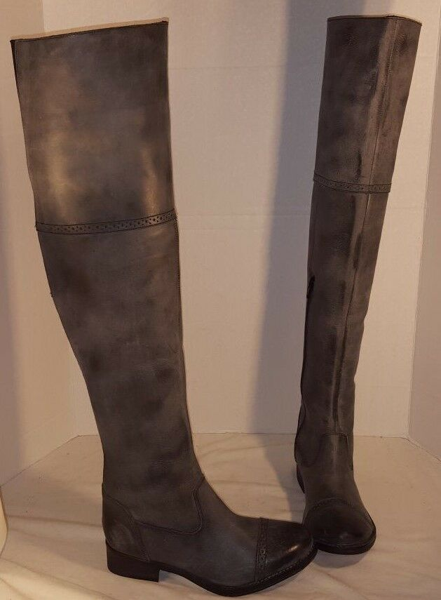 consegna rapida NEW FREE PEOPLE donna nero ASHTON LEATHER OVER OVER OVER THE KNEE stivali US 6 EUR 36  offerta speciale