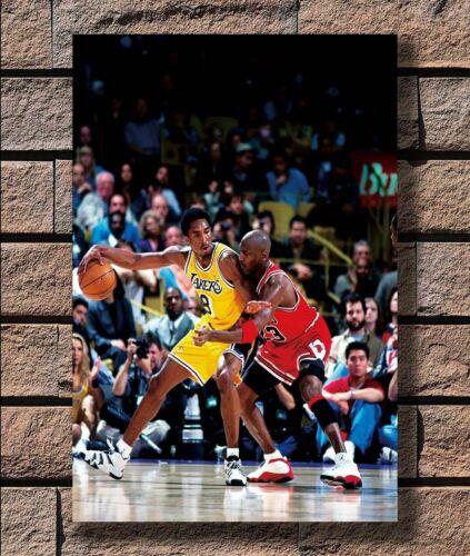 G288 Michael Jordan vs Kobe Bryant Poster Hot 40x27 36x24 18inch
