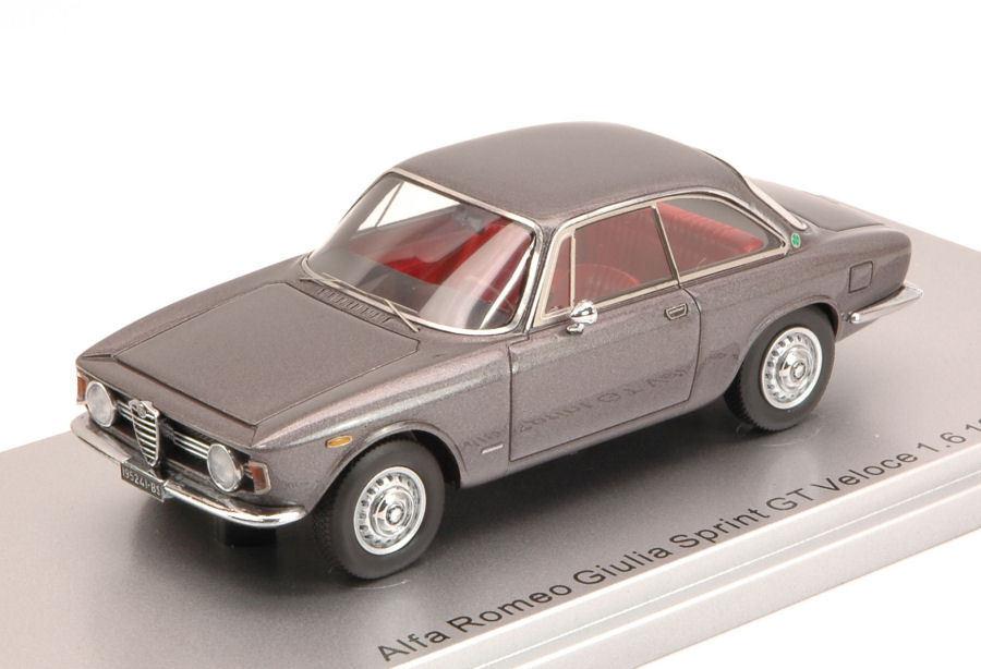 Alfa romeo giulia sprint gt veloce 1,6 1966 grau metallic begrenzte 250 pcs 1 43