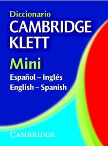 Diccionario Cambridge Klett Mini Espa ol-Ingl s/English
