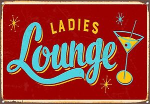 SMALL Vintage 50/'s Style Metal Sign Sci Fi Pin Up Tiki Bar Space Lounge Moai