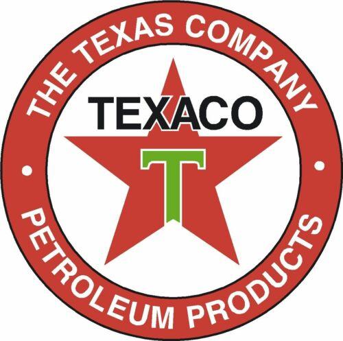 TEXACO RETRO STYLE GARAGE SIGN STICKER WALL CLASSIC OIL VINTAGE PETROLEUM GAS