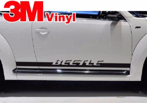 1998-2016 Volkswagen Beetle Rocker Panel Vinyl Graphics Decals Stripes 3M