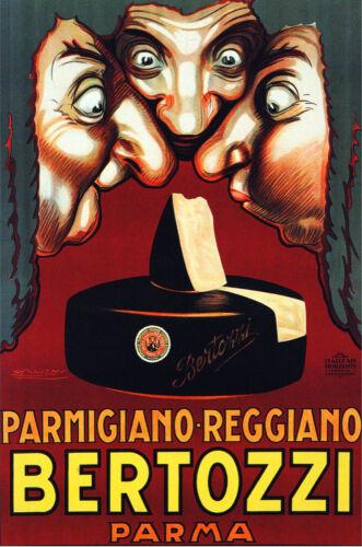 Italian Vintage Decoration /& Design Poster.Bertozzi Cheese.Deli wall Decor 878i