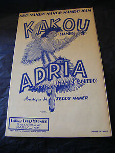 Partitura-Kakou-Adria-Teddy-Maner-Music-Sheet