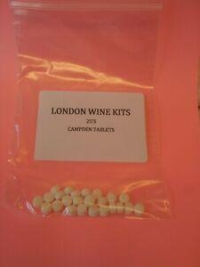 CAMPDEN TABLETS 25'S FOR HOME BREW, CIDER &  WINE MAKING & STERILISATION
