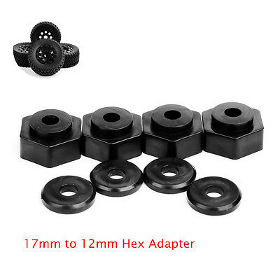 4pcs Set Adapter 17mm to 12mm Hex For 1:10 RC Short Course TruckTyre Tires New