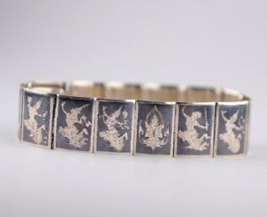 Sterling Silver Siam Black Bracelet Bangle