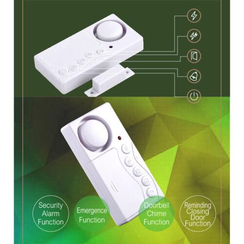 Magnetic Door Sensor Window Burglar Safe Alarm Doorbell Close Door Reminder 2 pc