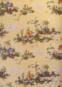 Colorful-French-Toile-on-Yellow-Background-per-Triple-Roll-142571401