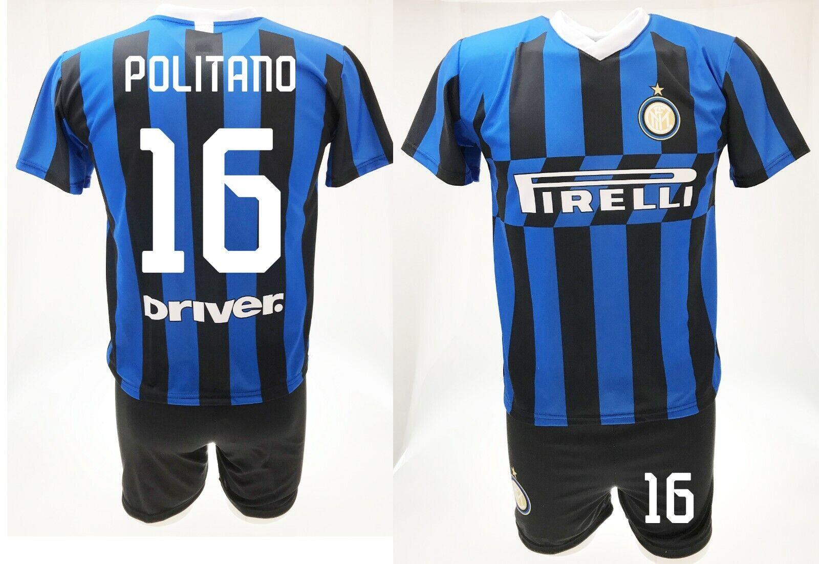 Trikot Politano Inter 2020 + Shorts Offizielle Set 2019 Matteo 16