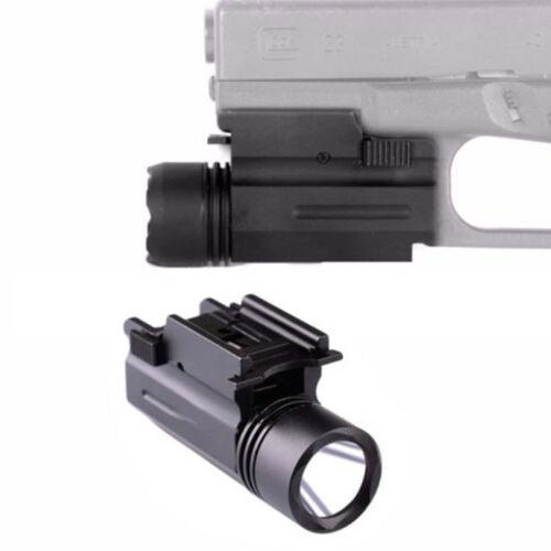 Green Light 300 Lumen LED Flashlight Strobe w//Quick Release Rail Mount