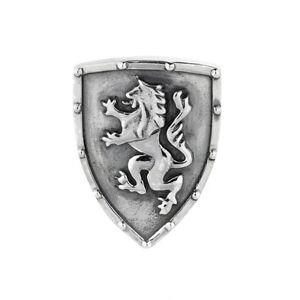 PANNEAU-AVEC-LION-BLASON-breloque-rebeligion-argent-pour-bracelet-en-cuir-noir