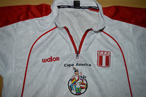 Vtg-PERU-Maglia-Camisa-2004-Copa-America-Soccer-Football-Jersey-Shirt-Walon-M-L