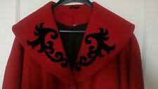 vintage red wool shawl collar  coat 12 14