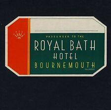 Royal Bath Hotel BOURNEMOUTH England UK * Old Luggage Label Kofferaufkleber