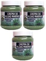 3x Crema Reductora De Algas Marinas Seaweed Wrap Cream Made In Mexico 9 Oz Each