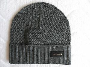 8f348aa1edaf7 Large GUESS Italy Grey Wool Cuff BEANIE Toque Tags Hat UNISEX Hat ...