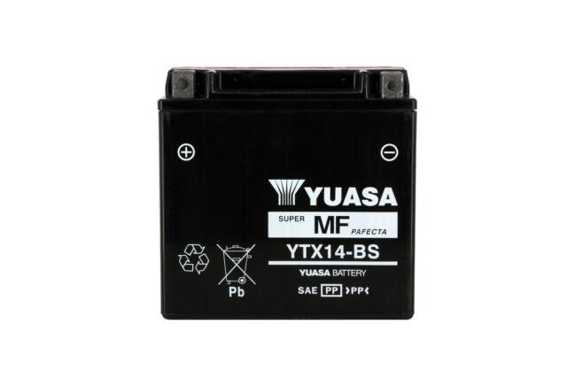 Batterie YTX14-BS 12v 12ah Yuasa Piaggio Mp3 500 lt business 2014-2014