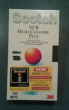 NEW and SEALED Scotch 3M VCR Head Cleaner Plus VHS SVHS
