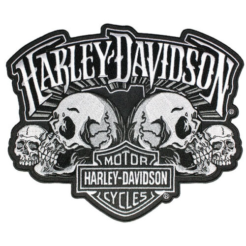 "B+S *EM169884* Harley-Davidson Aufnäher//Emblem /""SKULL TEXT/"" Patch Skull"