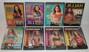 Lot-of-8-JILLIAN-MICHAELS-Workout-Execise-Fitness-DVD-039-s-30-Day-Shred-Ripped